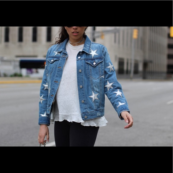 search for best compare price exquisite style YSL Inspired Bagatelle Jean Jacket Metallic NWOT